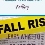 Fall Risk banner - pinterest pin - TJTL fall risk assessment.